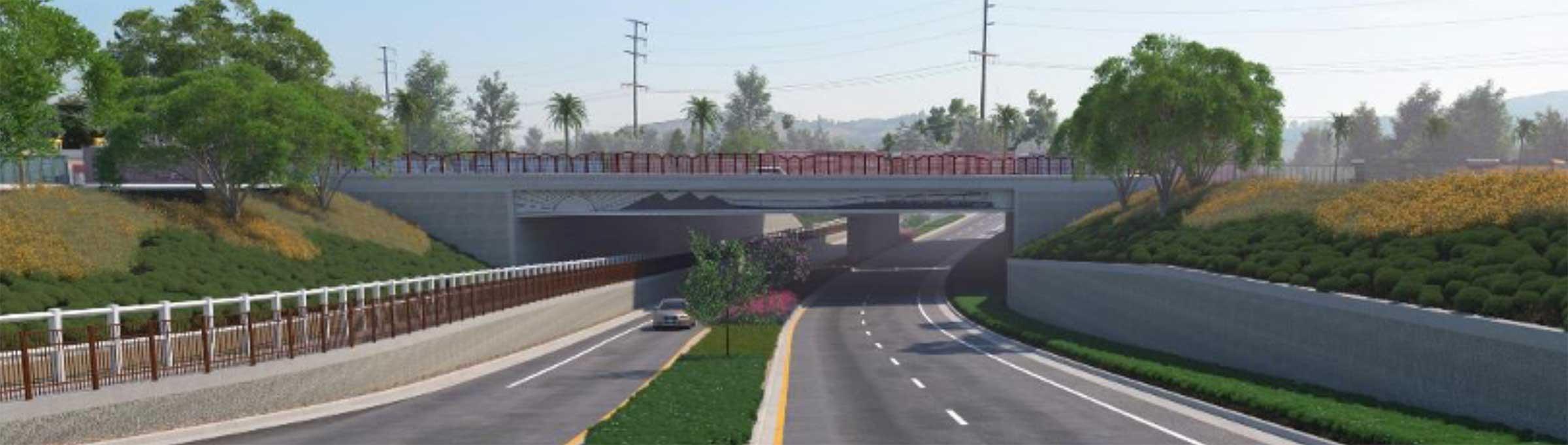 Jurupa Road Grade Separation project road